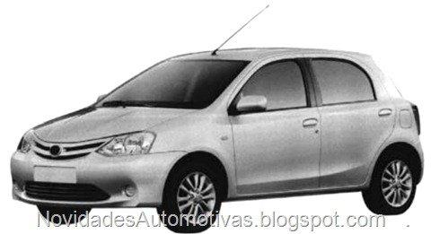 Toyota Etios que será produzido no Brasil terá design idêntico ao indiano