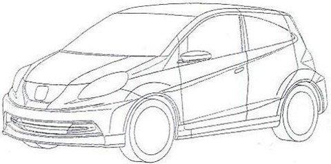 Honda registra na Argentina desenho do conceito que dará origem a um compacto que será feito no Brasil