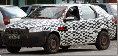 Site flagra mula do novo Fiat Siena
