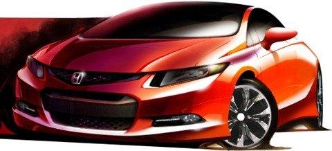 Honda divulga primeiro desenho do novo Civic