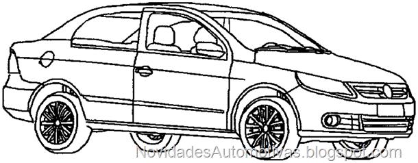 Como seria a versão cupê do Volkswagen Voyage?