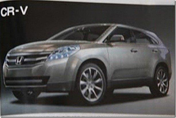 Suposta imagem do CR-V 2012 é publicada em revista automobilística