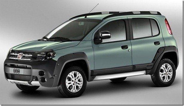 Novo Fiat Uno poderá ter uma versão Adventure com motor 1.6 E.TorQ