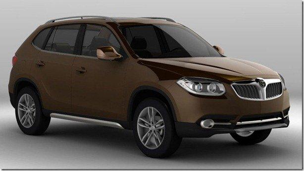 Brilliance revela o A3 SUV, um BMW X1 chinês