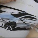 Primeiro esboço do novo Mercedes Classe A é revelado