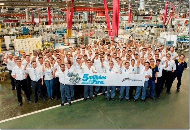 Fiat Powertrain comemora o marco de 5 milhões de motor Fire produzidos