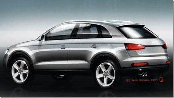 Audi revela esboços do Q3