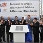 Fábrica de motores da GM em Joinville tem construção iniciada