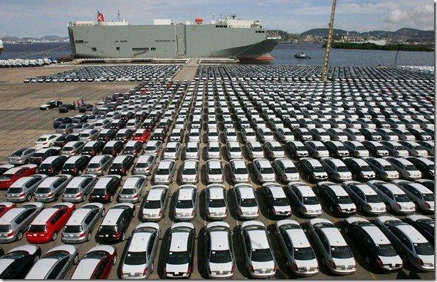 Poderá faltar carro importado no Brasil