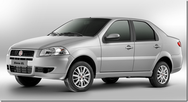 Fiat Siena ganha novidades para a linha 2012