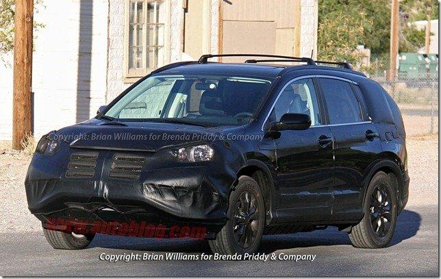 Honda CR-V 2012 é flagrado novamente