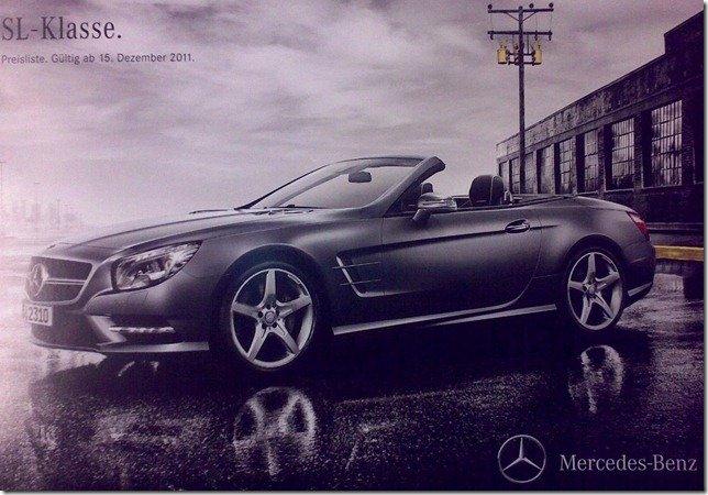 Vazam imagens do catálogo do Mercedes SL 2012
