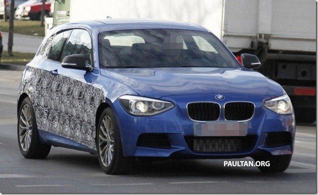 BMW Série 1 3p é flagrado em testes na Europa