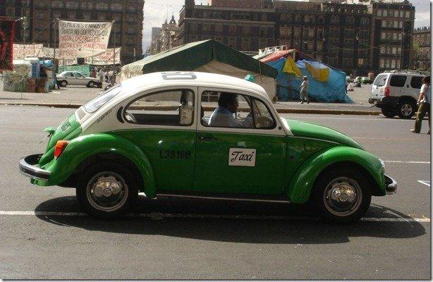 Fim do Fusca como táxi no México