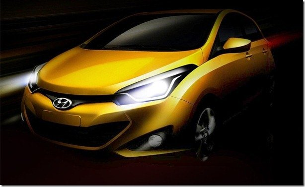 Hyundai HB20 tem dianteira revelada em novo teaser