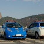 Dois Nissan LEAF passam a integrar a Polícia Militar do Rio de Janeiro