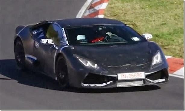 Lamborghini Cabrera é flagrado em Nurbürgring