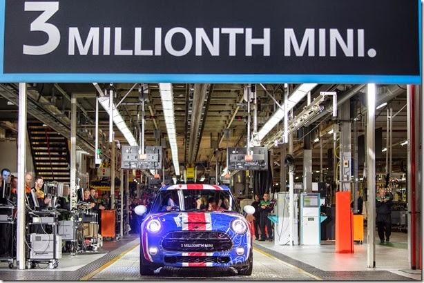 Mini Cooper supera a marca de 3 milhões de unidades produzidas