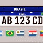 Definidas as cores das novas placas o Mercosul