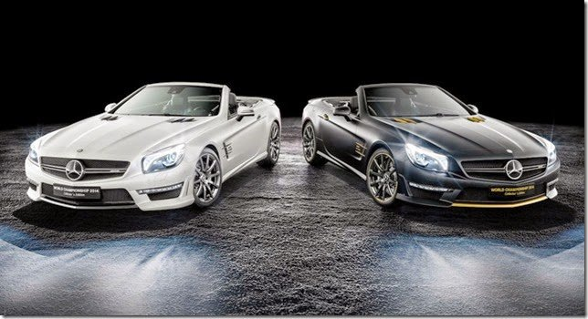 Mercedes comemora sucesso na F1 com edições especiais do SL 63 AMG