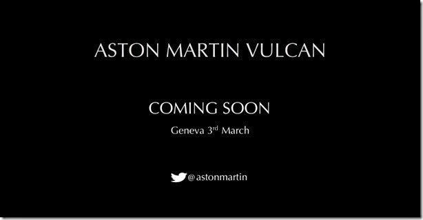 Aston Martin divulga teaser do Vulcan