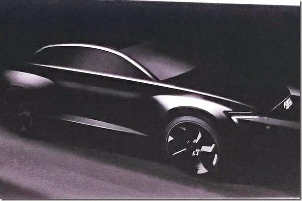 Audi divulga teaser do conceito Q6 e-Tron