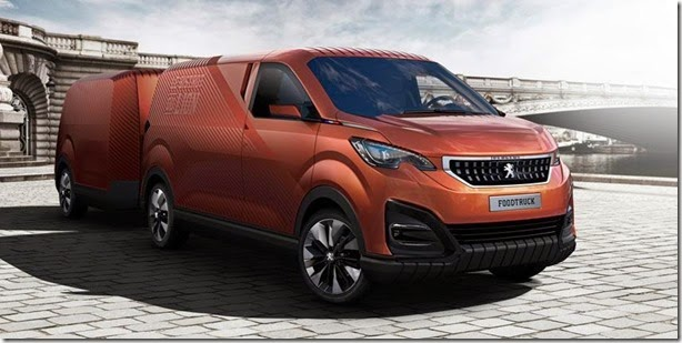Peugeot apresenta conceito Foodtruck em Paris