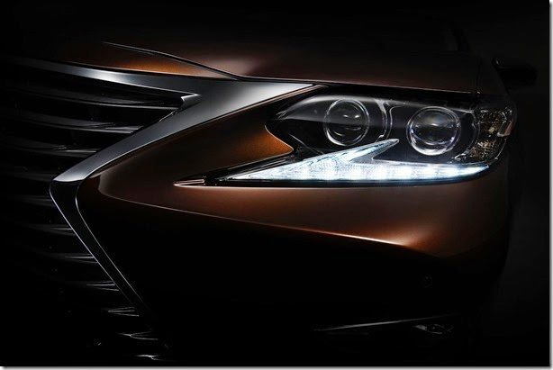 Novo Lexus ES é antecipado em teaser