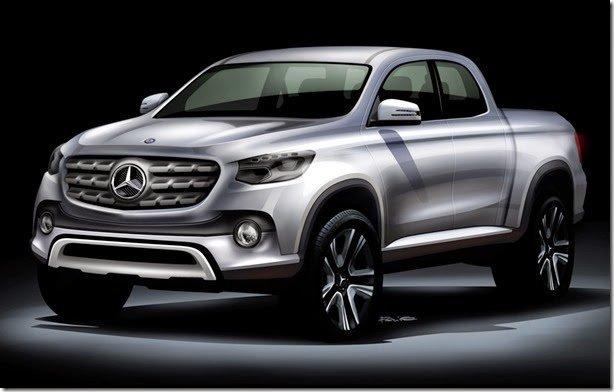 Picape da Mercedes poderá ser baseada na Nissan Frontier