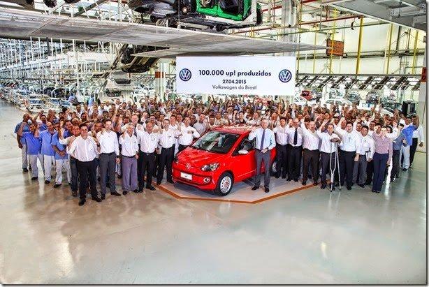 Volkswagen Up! chega às 100 mil unidades
