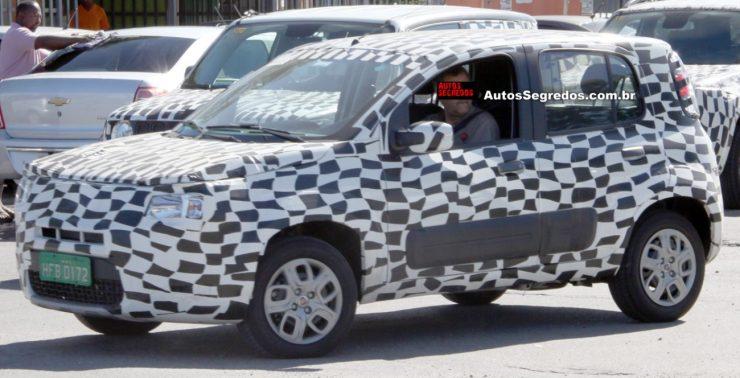 Fiat Mobi ainda com carroceria do Uno Way (Marlos Ney Vidal/Autos Segredos