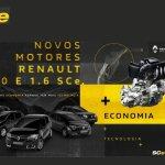 Renault tem novos motores 1.0 e 1.6 SCe para Sandero, Logan e Duster; potência chega a 120 cv