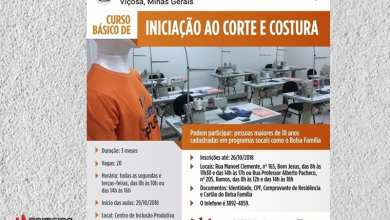 Photo of CURSO GRATUITO DE INICIAÇÃO AO CORTE E COSTURA