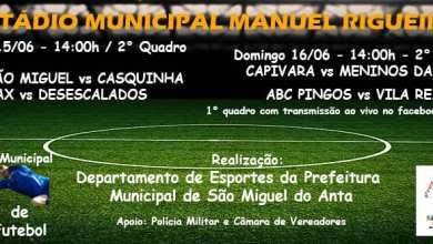Photo of PARTICIPE DO CAMPEONATO MUNICIPAL DE FUTEBOL DE SÃO MIGUEL DO ANTA NESTE FIM DE SEMANA