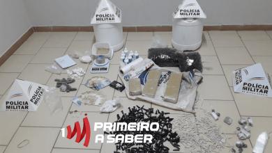 Photo of HOMEM É PRESO COM GRANDE QUANTIDADE DE DROGAS EM COIMBRA
