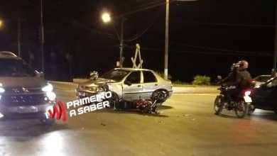 Photo of COLISÃO ENTRE CARRO E MOTO NA AVENIDA CASTELO BRANCO