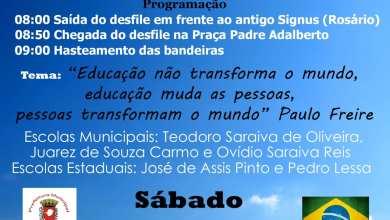 Photo of Desfile de 7 de setembro será realizado em São Miguel do Anta