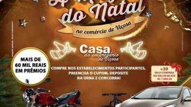Photo of Casa do Empresário realiza o 2º sorteio Campanha A Magia do Natal no Comércio de Viçosa