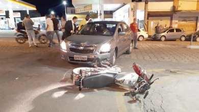 Foto de Motociclista sofre acidente grave no Centro