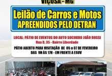 Photo of Leilão de veículos será realizado em Viçosa