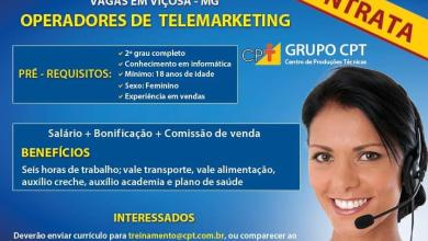 Photo of CPT contrata Operadores de Telemarketing