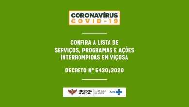 Photo of COVID-19: confira a lista de serviços, programas e ações interrompidas pela Prefeitura