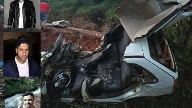 Photo of Três homens morrem após batida entre carro e caminhão em Ervália