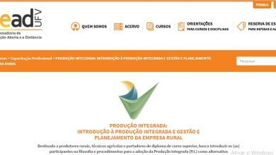 Photo of UFV e Ministério da Agricultura recebem inscrições para nova turma do curso de Produção Integrada