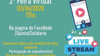 Photo of Projeto Quintal Solidário realizará 2ª Feira Virtual na quarta-feira (03/06)