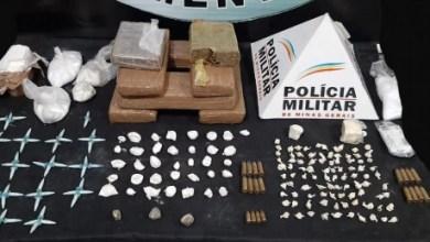 Foto de PM apreende diversas drogas e munições no Estrelas em Viçosa