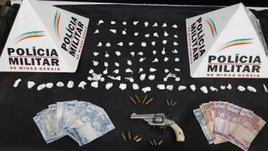 Foto de Homem é preso com arma e drogas em comércio no Nova Viçosa