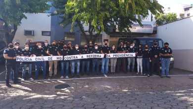 Photo of Integrantes da Polícia Civil de Viçosa fazem manifestação contra a reforma da previdência