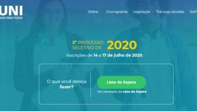 Foto de Prouni 2020 divulga lista de espera; veja resultado
