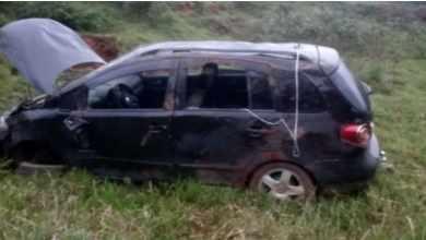 Foto de Homem fica ferido ao capotar veículo na estrada que liga Teixeiras a Pedra do Anta